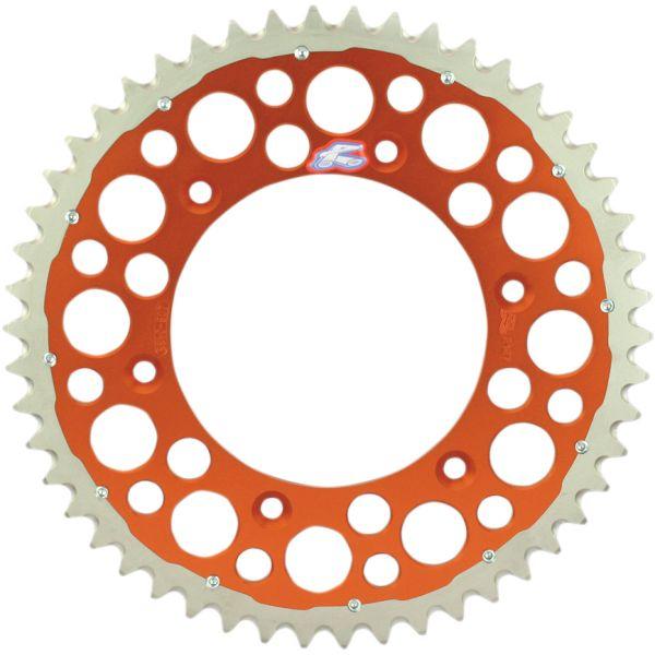 Kit de lant Renthal Pinion Spate R 520 52 Dinti Orange 12100985 Twinring