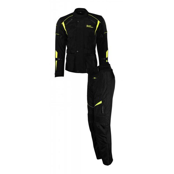 Combo Geaca/Pantalon ATV Rusty Stitches Combo Geaca + Pantaloni Textili Moto Tommy Black-Yellow Fluo 2021