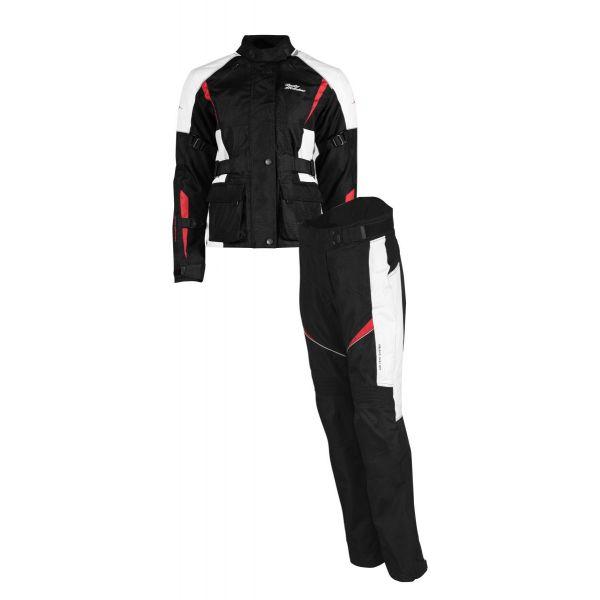 Combo Geaca/Pantalon ATV Rusty Stitches Combo Geaca + Pantaloni Textili Moto Dama Jenny Black-White-Red 2021