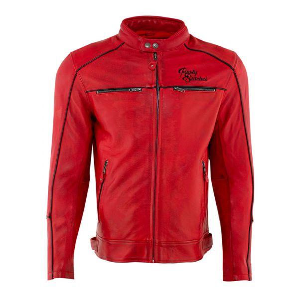 Geci Moto Piele Rusty Stitches Geaca Moto Piele Chase Red/Black 2021