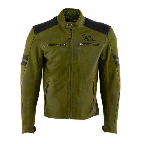 Geci Moto Piele Rusty Stitches Geaca Moto Piele JARI Green/Black 2021