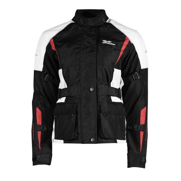 Geci ATV Rusty Stitches Geaca Moto Textila Dama Jenny  Black/White/Red 2021