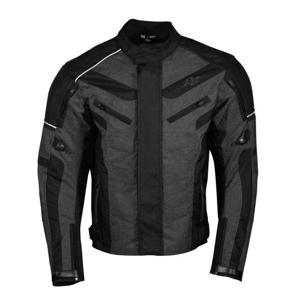 Geci Moto Textil Rusty Stitches Geaca Moto Textila Romeo Black/Grey 2021