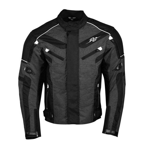 Geci Moto Textil Rusty Stitches Geaca Moto Textila Romeo Black/Grey/White 2021
