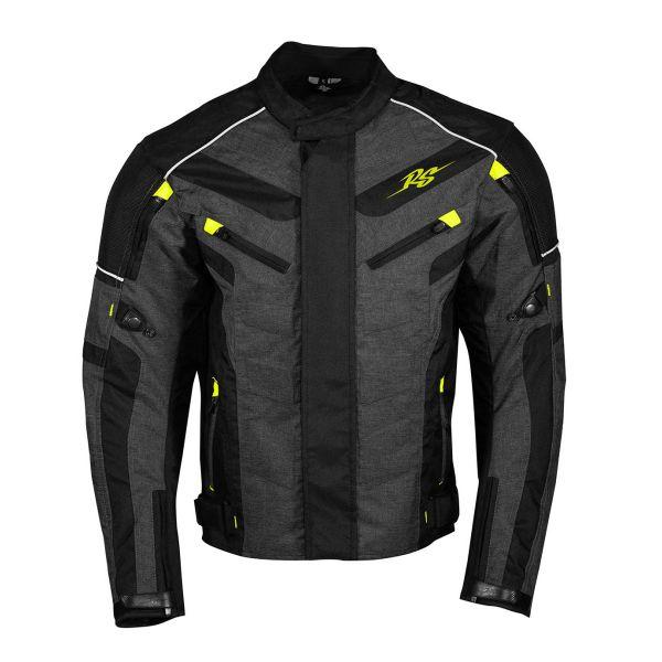 Geci Moto Textil Rusty Stitches Geaca Moto Textila Romeo Black/Yellow Fluo 2021