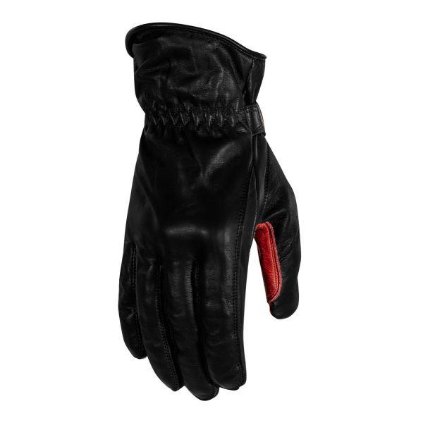 Manusi Moto Sport si Piele Rusty Stitches Manusi Moto Piele Johnny Black/Red 2021