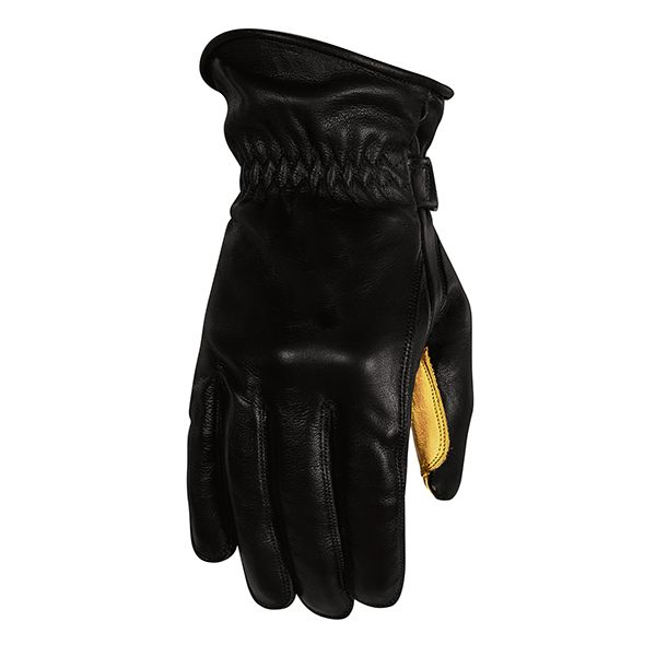 Manusi Moto Sport si Piele Rusty Stitches Manusi Moto Piele Johnny Black/Yellow 2021