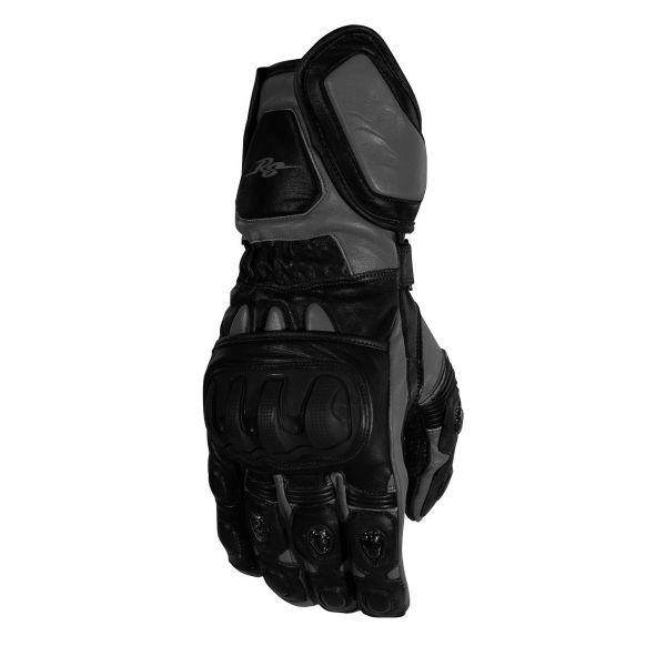 Manusi Moto Sport si Piele Rusty Stitches Manusi Moto Piele Marc Black/Grey 2021
