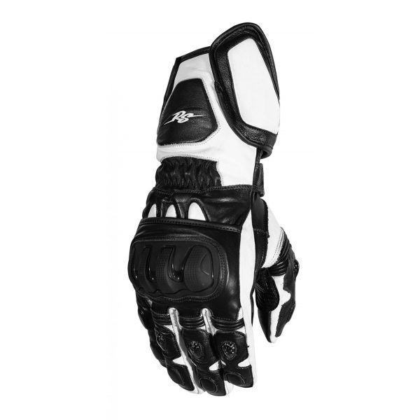 Manusi Moto Sport si Piele Rusty Stitches Manusi Moto Piele Marc Black/White 2021