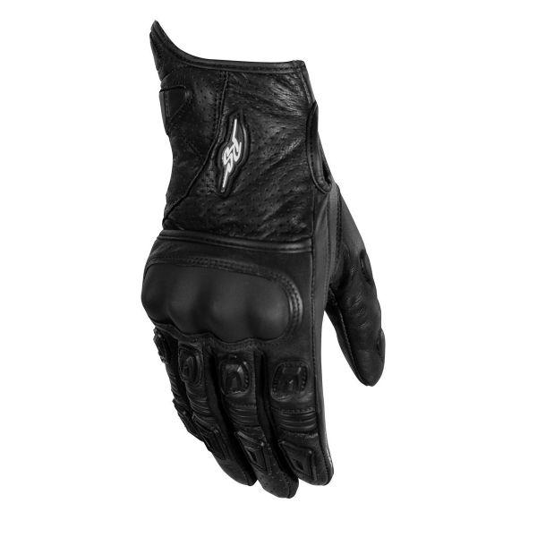Manusi Moto Sport si Piele Rusty Stitches Manusi Moto Piele Quinn Black/White 2021