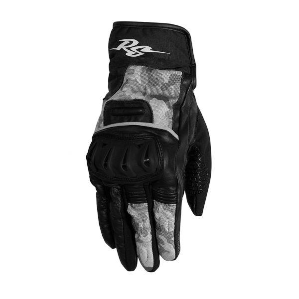 Manusi Moto Sport si Piele Rusty Stitches Manusi Moto Piele/Textile Randy Black/Camo Grey 2021