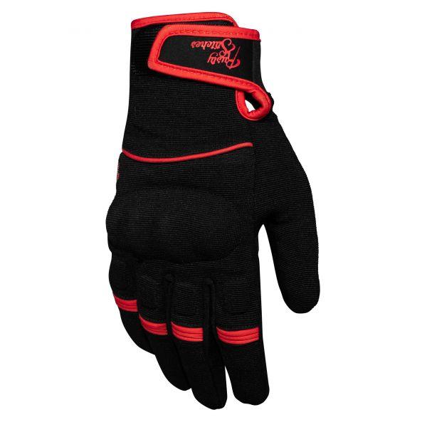 Manusi Moto Sport si Piele Rusty Stitches Manusi Textile Clyde Black/Red 2020