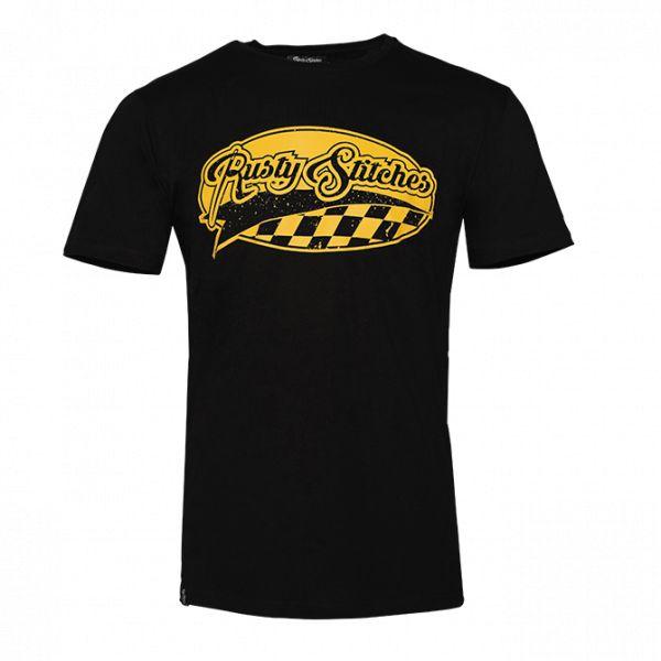 Tricouri/Camasi Casual Rusty Stitches Tricou 109 Badge Black/Yellow 2020