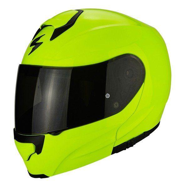 Casti Moto Flip-up (Modulabile) Scorpion Exo Casca Moto Flip-Up Exo-3000 Air Solid Neon Yellow