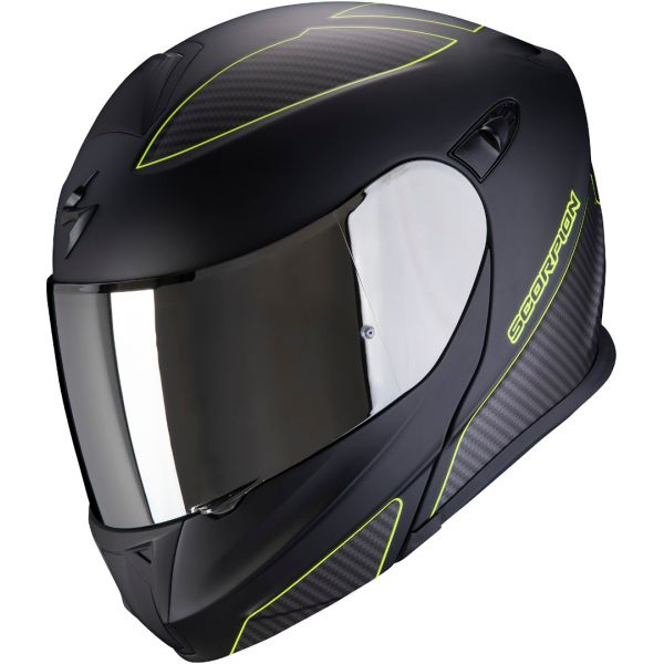 Casti Moto Flip-up (Modulabile) Scorpion Exo Casca Moto Flip-up Exo 920 FLUX Black Matte/Hi Viz Yellow