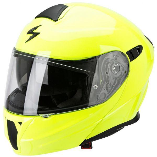 Casti Moto Flip-up (Modulabile) Scorpion Exo Casca Moto Flip-Up Exo 920 Solid Yellow Fluo