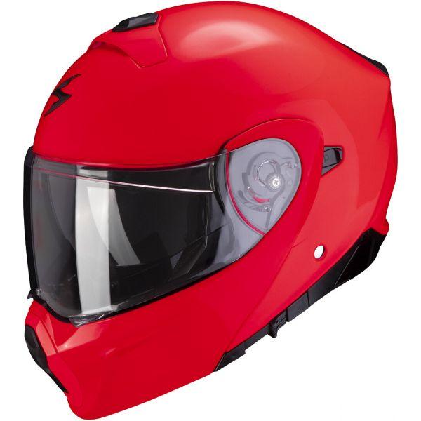 Casti Moto Flip-up (Modulabile) Scorpion Exo Casca Moto Flip-Up Exo-930 Solid Red 2021