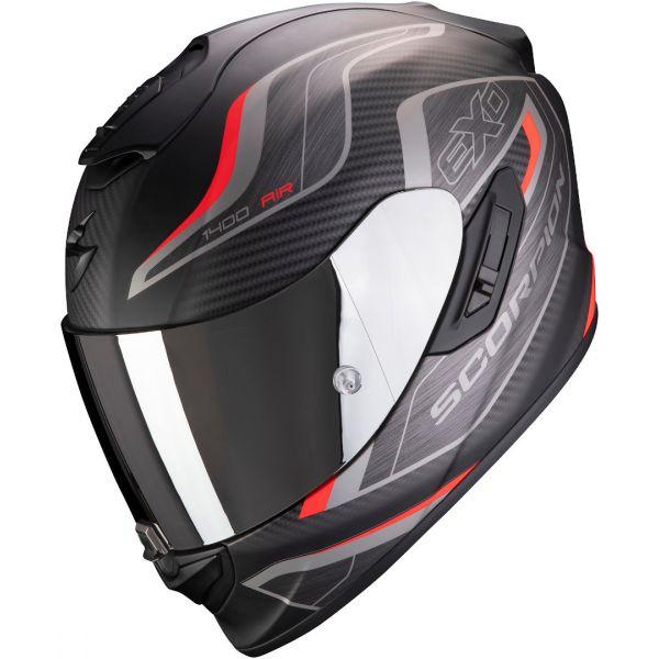 Casti Moto Integrale Scorpion Exo Casca Moto Full-Face Exo 1400 Air Attune Matt Black/Red