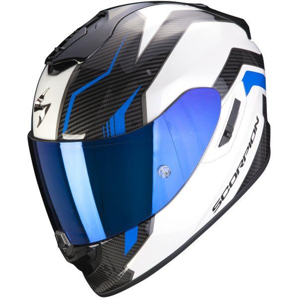Casti Moto Integrale Scorpion Exo Casca Moto Full-Face Exo 1400 Air Fortuna White/Blue 2021