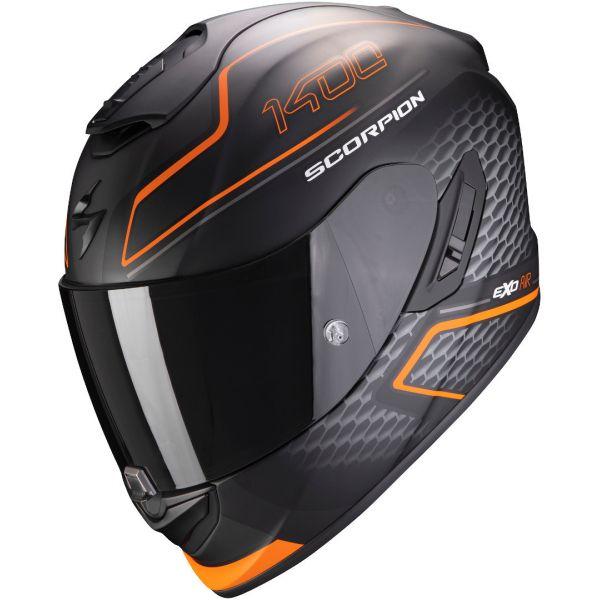 Casti Moto Integrale Scorpion Exo Casca Moto Full-Face Exo 1400 Air Galaxy Matt Orange
