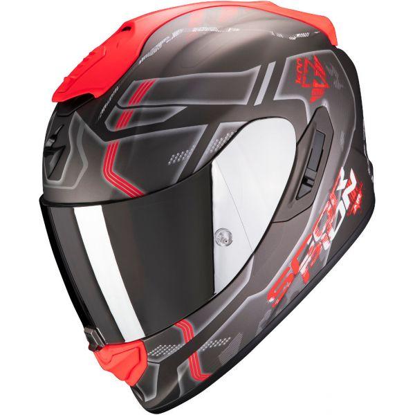 Casti Moto Integrale Scorpion Exo Casca Moto Full-Face Exo 1400 Air Spatium Matt Silver/Red
