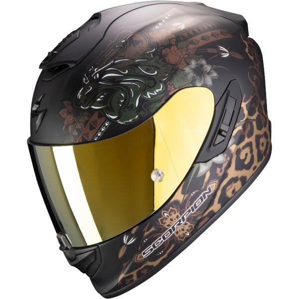 Casti Moto Integrale Scorpion Exo Casca Moto Full-Face Exo 1400 Air Toa Matt Black/Gold