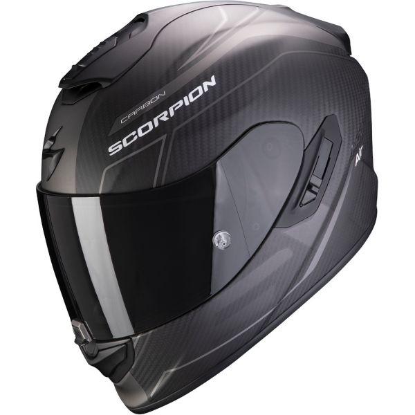 Casti Moto Integrale Scorpion Exo Casca Moto Full-Face Exo 1400 Carbon Air Beaux Matt Black/Silver