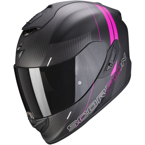 Casti Moto Integrale Scorpion Exo Casca Moto Full-Face Exo 1400 Carbon Air Drik Matt Black/Pink 2021