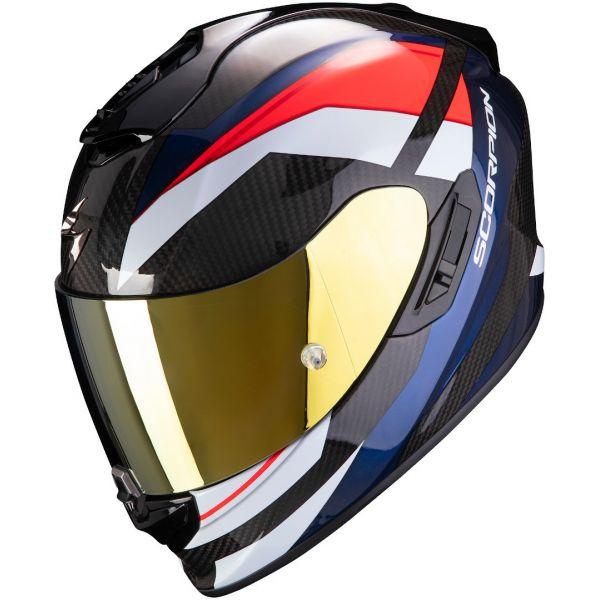 Casti Moto Integrale Scorpion Exo Casca Moto Full-Face Exo 1400 Carbon Air Legione Red/Blue