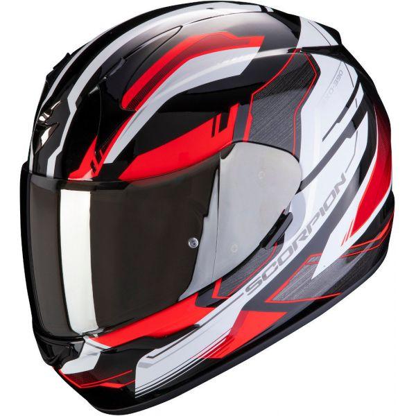 Casti Moto Integrale Scorpion Exo Casca Moto Full-Face Exo 390 Boost Black/White/Red