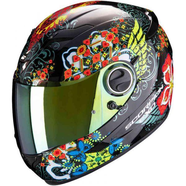 Casti Moto Integrale Scorpion Exo Casca Moto Full-Face Exo 490 Divina Black/Red/Blue Chameleon