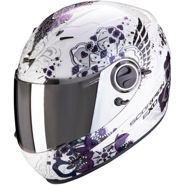 Casti Moto Integrale Scorpion Exo Casca Moto Full-Face Exo 490 Divina White Chameleon