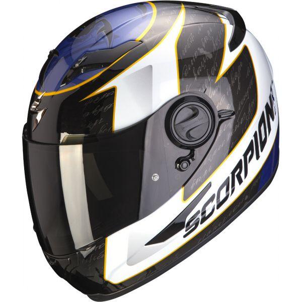 Full face helmets Scorpion Exo Moto Helmet Full-Face Exo 490 Tour White/Blue