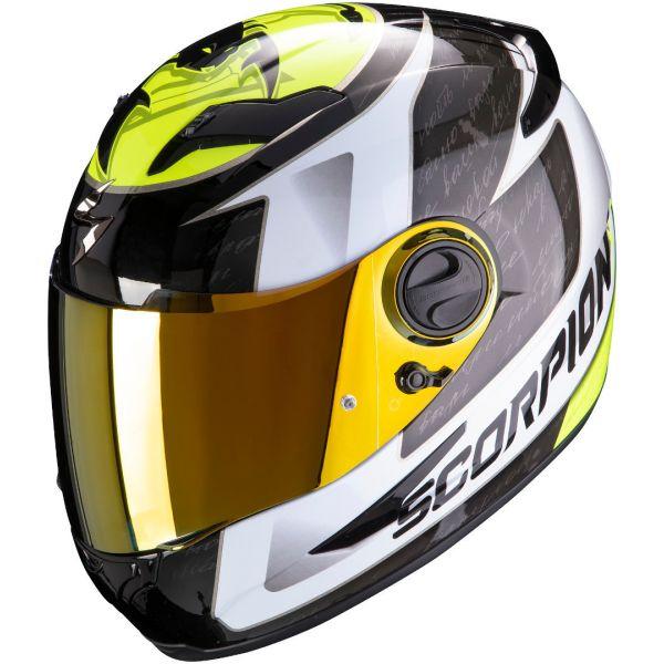 Casti Moto Integrale Scorpion Exo Casca Moto Full-Face Exo 490 Tour White/Neon Yellow