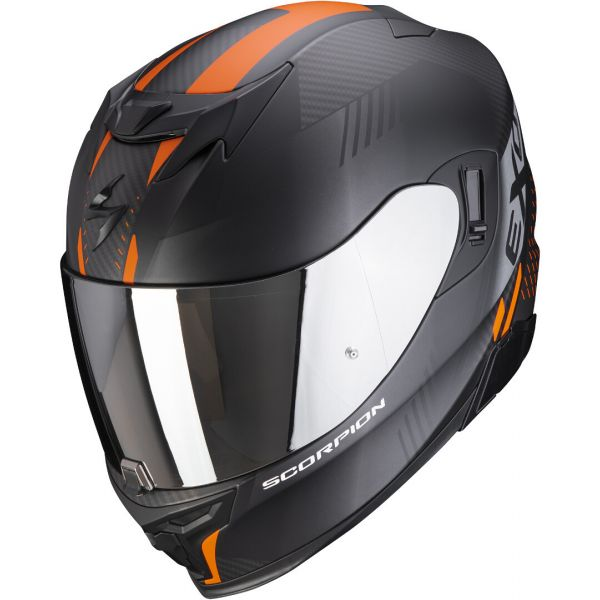 Casti Moto Integrale Scorpion Exo Casca Moto Full-Face Exo 520 Air Laten Matt Black/Orange 2021