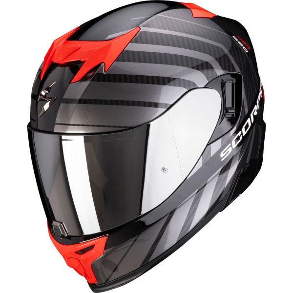 Casti Moto Integrale Scorpion Exo Casca Moto Full-Face Exo 520 Air Shade Pearl Black/Red 2021