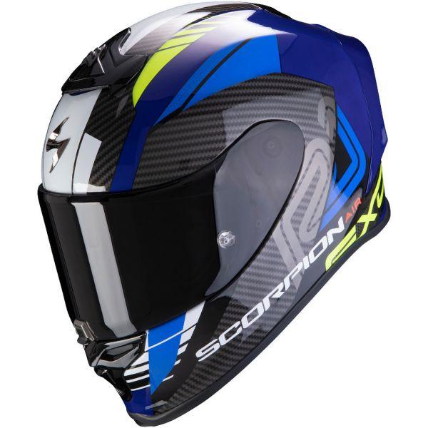 Casti Moto Integrale Scorpion Exo Casca Moto Full-Face Exo R1 Air Halley Blue/Neon Yellow