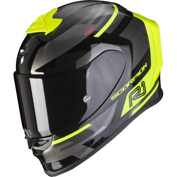 Casti Moto Integrale Scorpion Exo Casca Moto Full-Face Exo R1 Air Orbis Black/Neon Yellow 2021