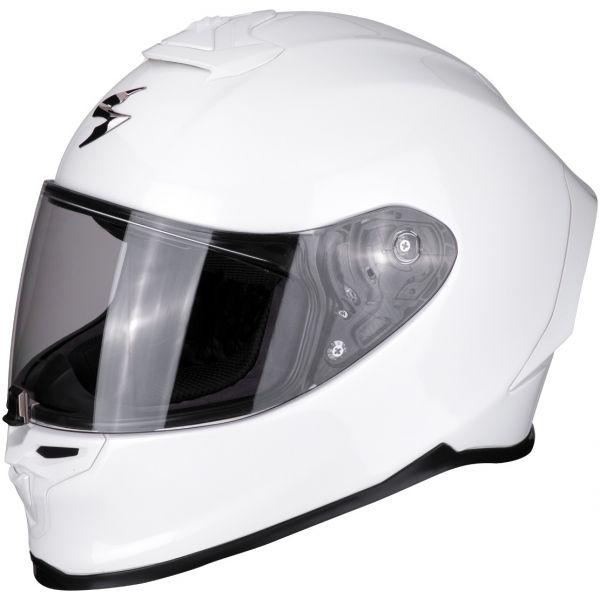 Casti Moto Integrale Scorpion Exo Casca Moto Full-Face Exo R1 Air Solid Pearl White