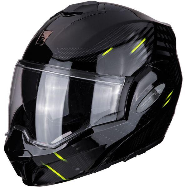 Casti Moto Flip-up (Modulabile) Scorpion Exo Casca Moto Modulara Flip-Back Exo-Tech Pulse Black