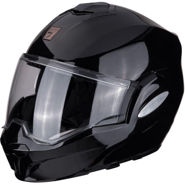 Casti Moto Flip-up (Modulabile) Scorpion Exo Casca Moto Modulara Flip-Back Exo-Tech Solid Black