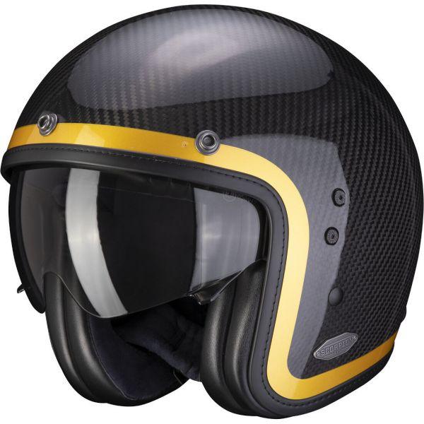 Casti Moto Jet (Open Face) Scorpion Exo Casca Moto Open Face/Jet Belfast Carbon Lofty Gold 2021