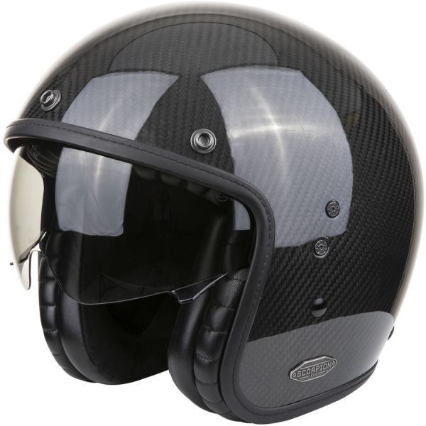 Casti Moto Jet (Open Face) Scorpion Exo Casca Moto Open Face/Jet Belfast Carbon Solid Black