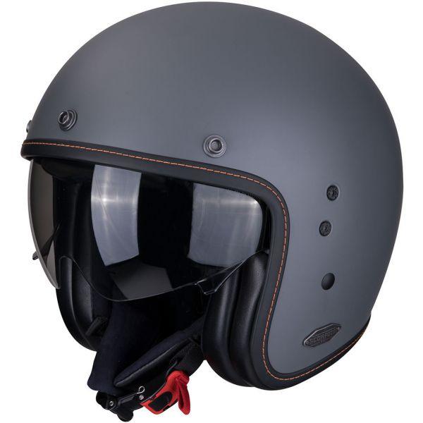 Casti Moto Jet (Open Face) Scorpion Exo Casca Moto Open Face/Jet Belfast Solid Matt Cement Grey