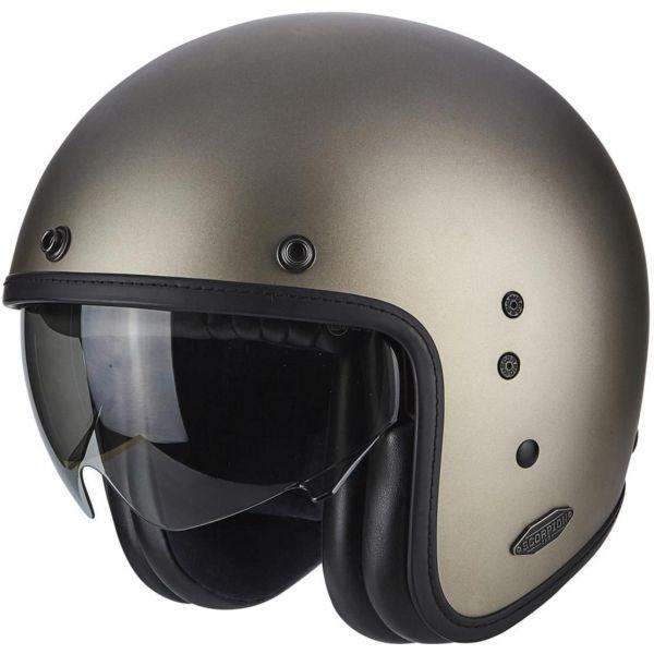 Casti Moto Jet (Open Face) Scorpion Exo Casca Moto Open Face/Jet Belfast Solid Titanium