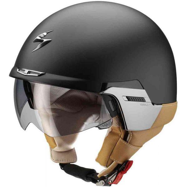 Casti Moto Jet (Open Face) Scorpion Exo Casca Moto Open Face/Jet Exo 100 Padova II Matt Black