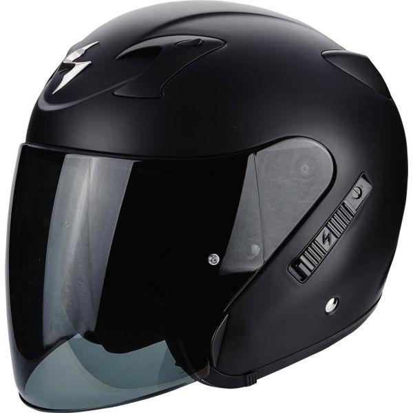Casti Moto Jet (Open Face) Scorpion Exo Casca Moto Open Face/Jet Exo 220 Solid Matt Black