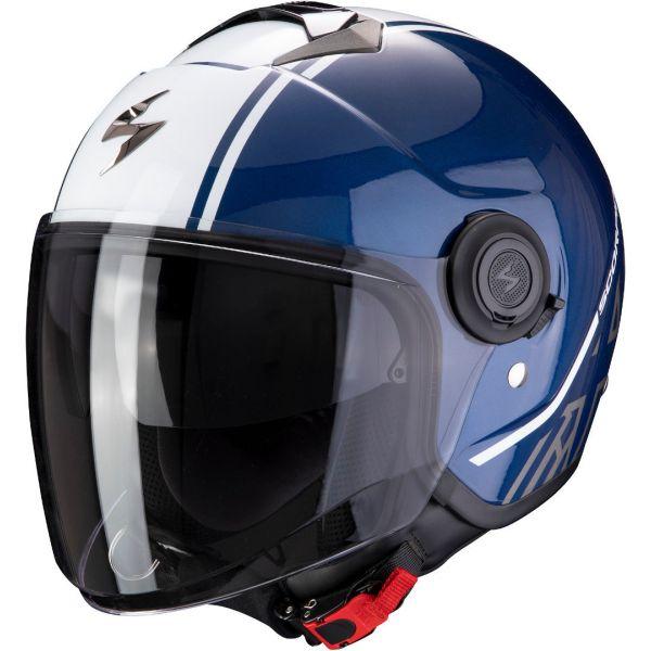 Casti Moto Jet (Open Face) Scorpion Exo Casca Moto Open Face/Jet Exo-City Avenue Dark Blue/White