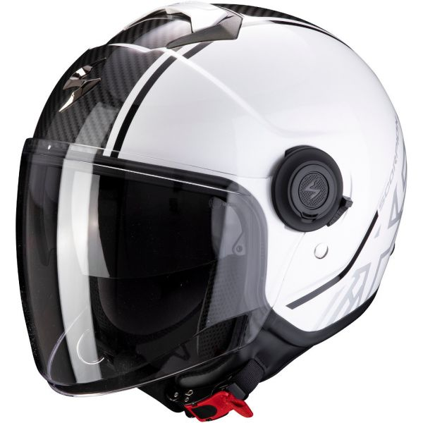 Casti Moto Jet (Open Face) Scorpion Exo Casca Moto Open Face/Jet Exo-City Avenue White/Black