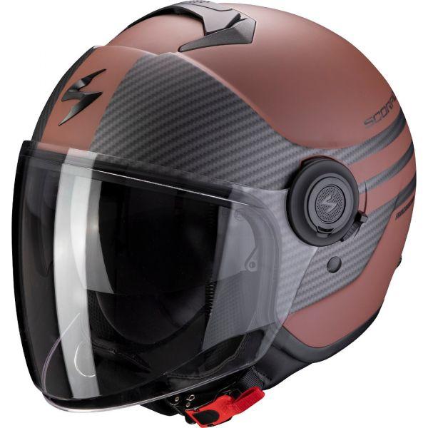 Casti Moto Jet (Open Face) Scorpion Exo Casca Moto Open Face/Jet Exo-City MODA Matt Brown/Black
